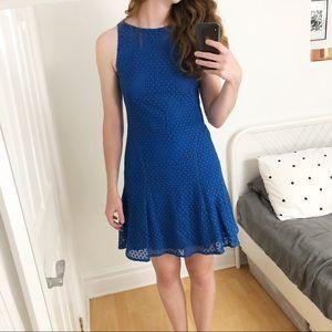 Akris Punto Blue Sleeveless Eyelet Lace Dress - 4